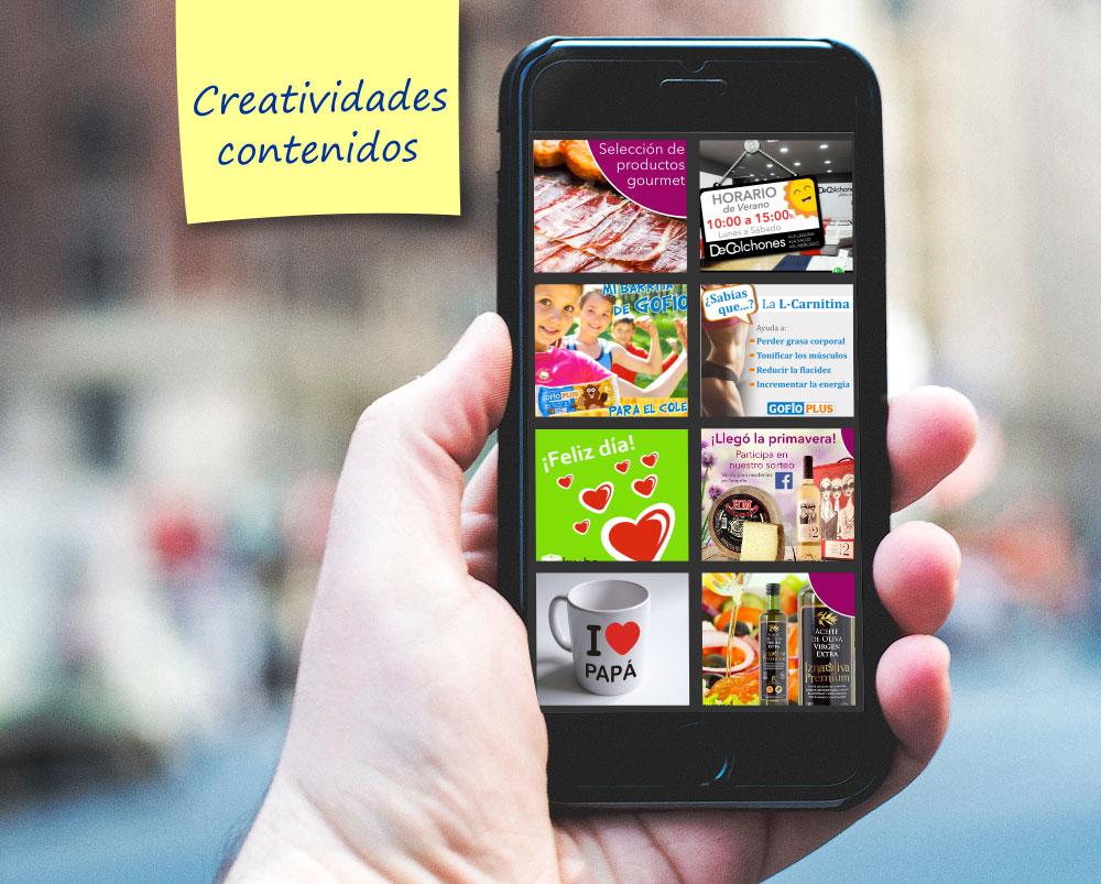 Creatividades contenidos para redes sociales